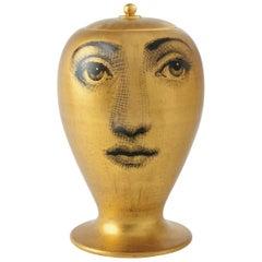 Fornasetti Vase Buongiorno-Buonanotte Black/White/Gold