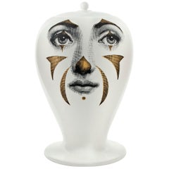 Fornasetti Vase Clown Black/White/Gold
