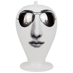 Fornasetti Vase Paris Tour Black/White/Platinum