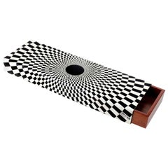 Fornasetti Wooden and Metal Box Egocentrismo Black or White
