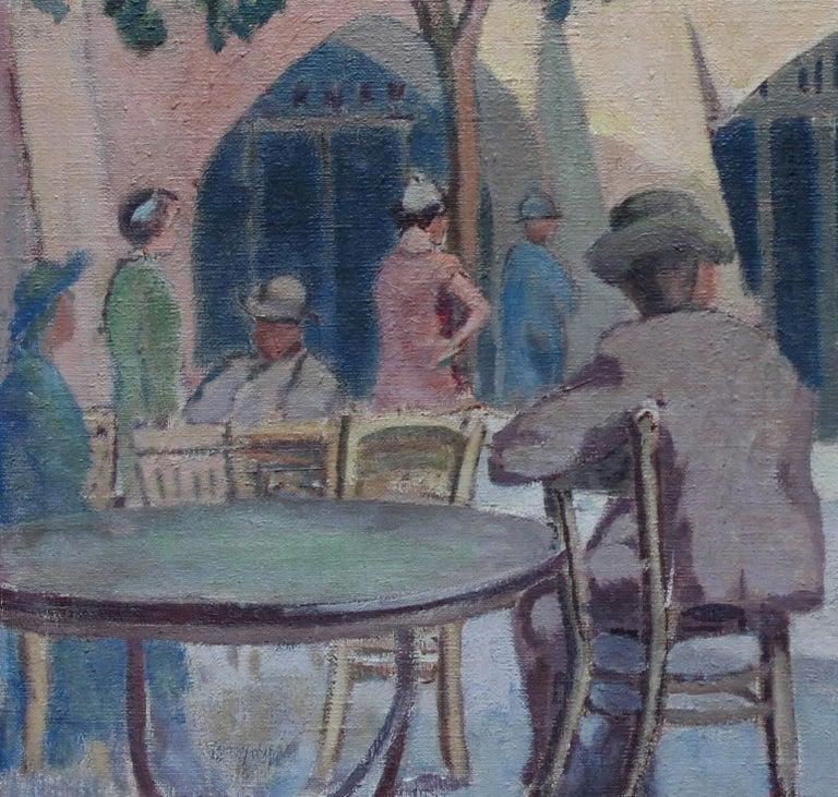 Cafe Porto Fino Italy - British Post Impressionist oil painting Italian Riviera 4