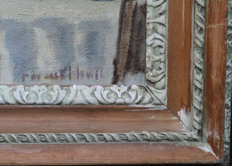 Cafe Porto Fino Italy - British Post Impressionist oil painting Italian Riviera 8