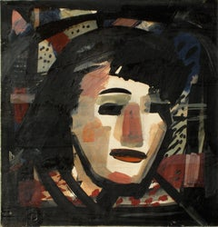 Abstracted Portrait Of A Woman 1930-60s, Tempera Paint on Paper