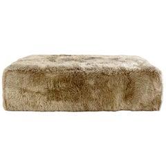 Forsyth Large Sheepskin Ottoman