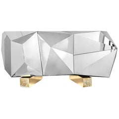 Fortnox Sideboard in Polished Stainless Steel
