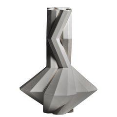 Fortress Cupola Vase in Grey Ceramic, by Lara Bohinc, In Stock