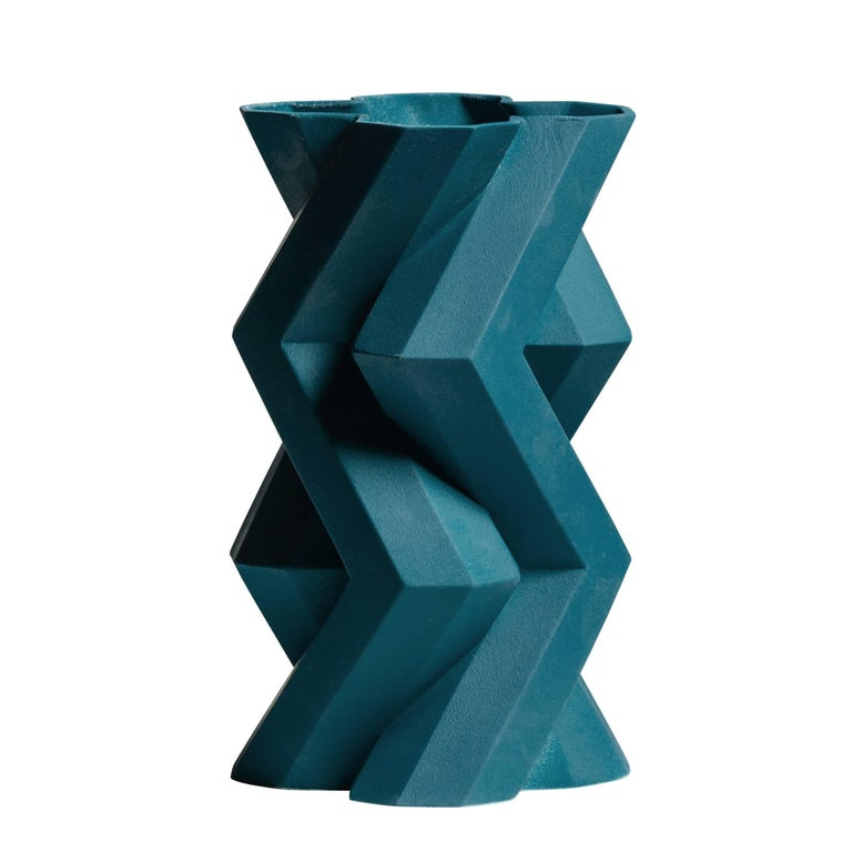Fortress Tower Vase in Blue by Lara Bohinc For Sale