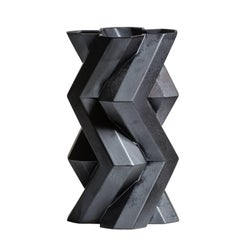 Fortress Tower Vase in Iron Ceramic by Lara Bohinc, In Stock