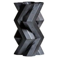 Fortress Tower Vase in Iron Ceramic by Lara Bohinc, in Stock