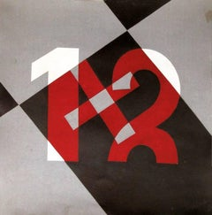 Numbers 1 and 2. Depero 20th Century, Italian, Futurist, Abstract Painting