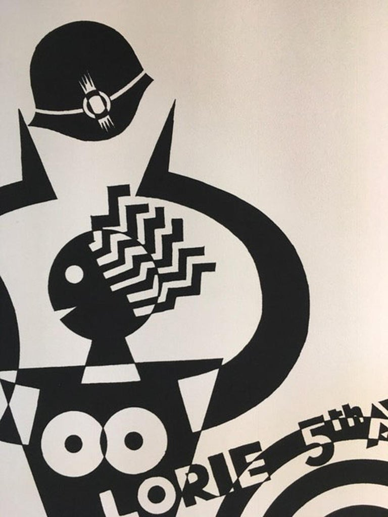 1974 Italy Fortunato Depero De Marinis Black and White Numbered Print on Paper For Sale 3