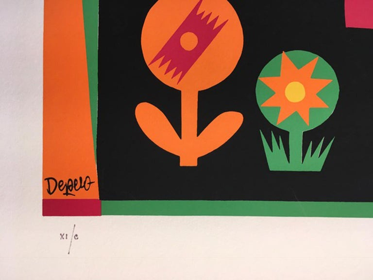 Little Red Riding Hood by Fortunato Depero Abstract Print Italy 1974 For Sale 4