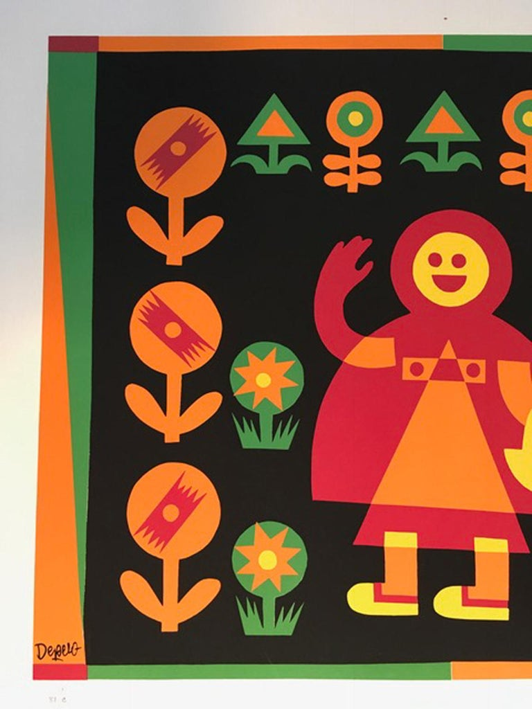 Little Red Riding Hood by Fortunato Depero Abstract Print Italy 1974 For Sale 5