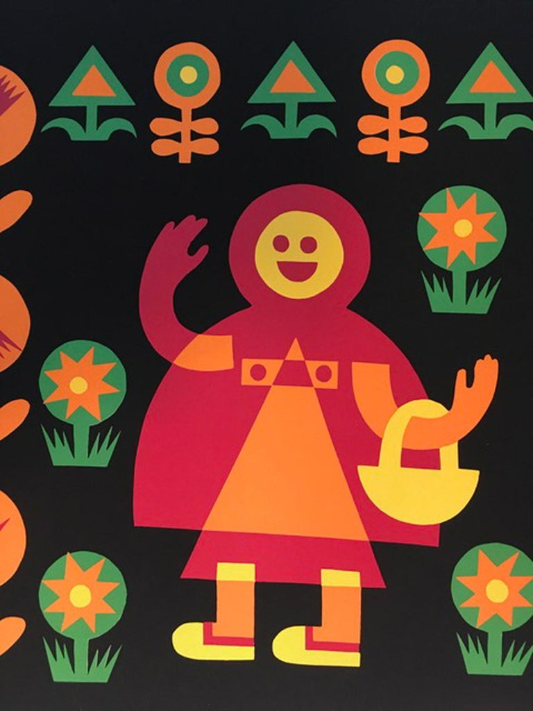 Little Red Riding Hood by Fortunato Depero Abstract Print Italy 1974 For Sale 6