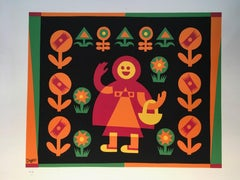 Little Red Riding Hood by Fortunato Depero Abstract Print Italy 1974