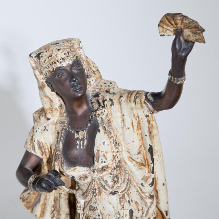 Paint Fortune Teller with Moors, German, circa 1880 For Sale