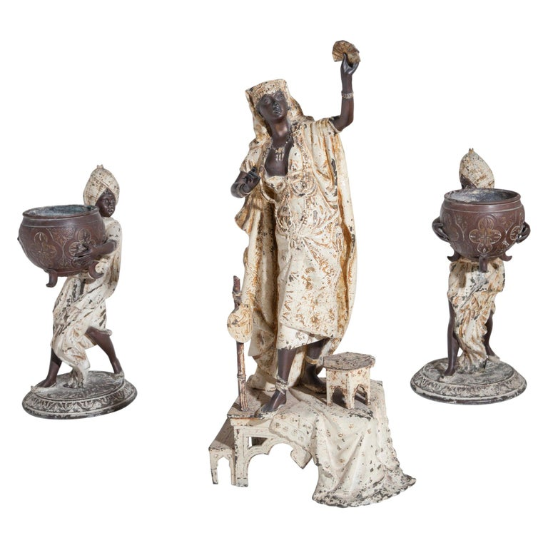Fortune Teller with Moors, German, circa 1880 For Sale