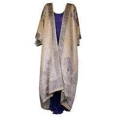 Fortuny Banana Stencilled Velvet Coat, Provenance Tina Chow