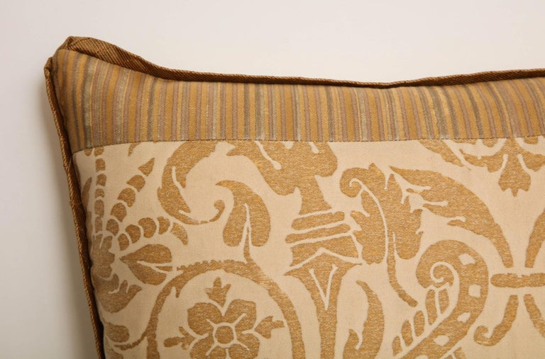 Baroque Fortuny Fabric Cushion in the Ucceli Pattern For Sale