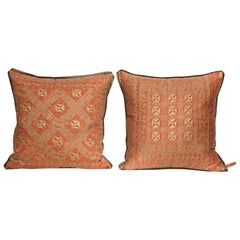 Fortuny Fabric Cushions in the Ashanti Pattern