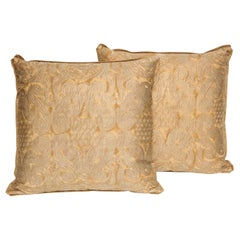 Fortuny Fabric Cushions in the Peruviano Pattern