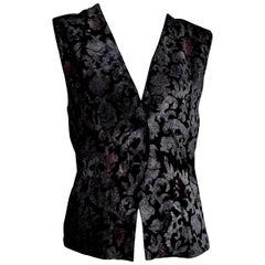 "FORTUNY Fabric ""New"" Hand Painted for Collection Silk Velvet Gilet Vest - Unworn"
