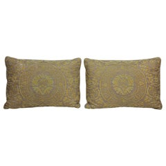 Fortuny Pillow in Acid Green and Grey