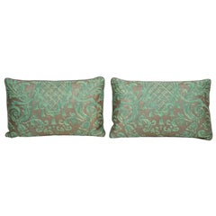 Fortuny Pillow in Green and Grey
