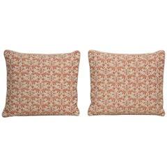 Fortuny Pillow in Orange and Cream