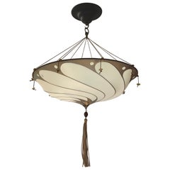 Fortuny Silk Scudo Chandelier