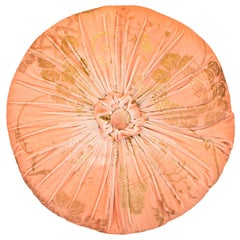 Fortuny / Venetia Stvdivm Round Pink and Gold Velvet Pillow