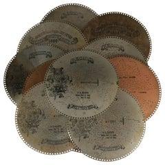 Forty Five Antique Regina Music Box Discs, circa 1890