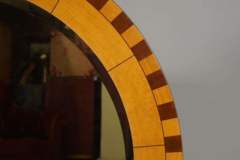 American Forty Two Inch Inlaid Circular Mirror For Sale
