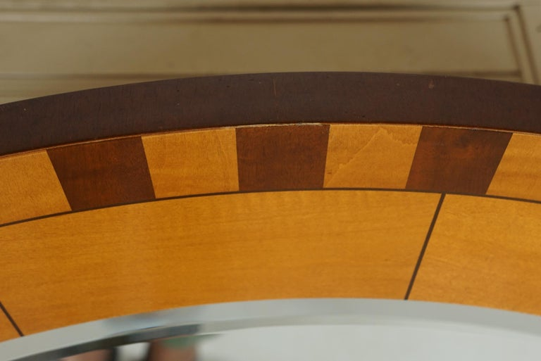 20th Century Forty Two Inch Inlaid Circular Mirror For Sale
