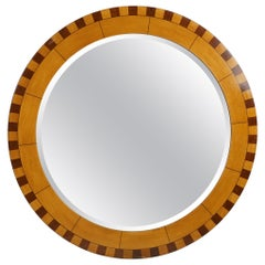 Forty Two Inch Inlaid Circular Mirror