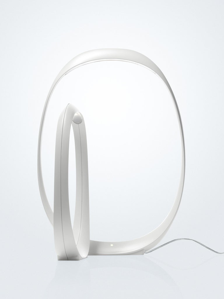 Modern Foscarini Anisha Small LED Table Lamp in White by Lievore, Altherr, and Molina For Sale