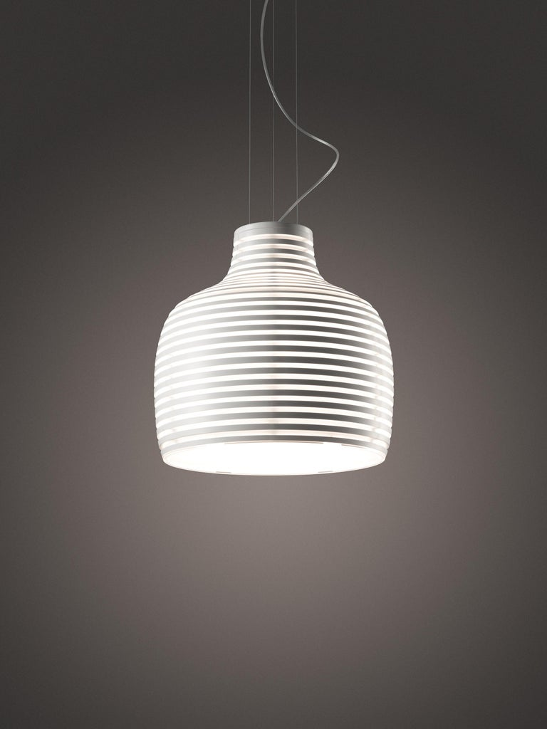 Italian Foscarini Behive Suspension Lamp in White by Werner Aisslinger For Sale