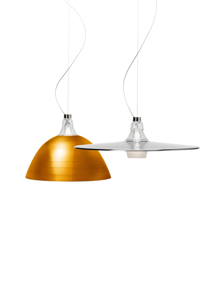 Modern Foscarini Bell Suspension Lamp in Bronze by Diesel For Sale