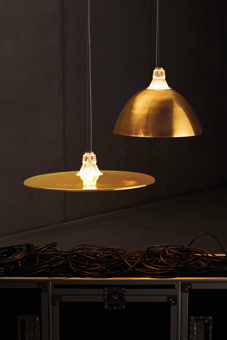 Varnished Foscarini Bell Suspension Lamp in Bronze by Diesel For Sale