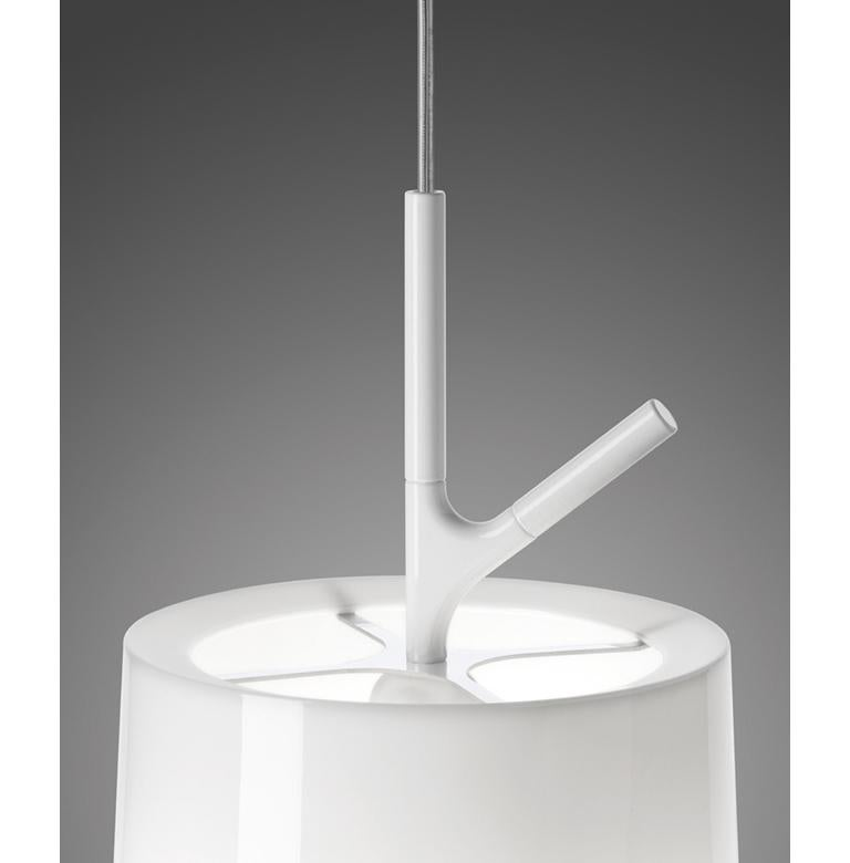 Modern Foscarini Birdie Large Suspension Lamp in White by Ludovica and Roberto Palomba For Sale
