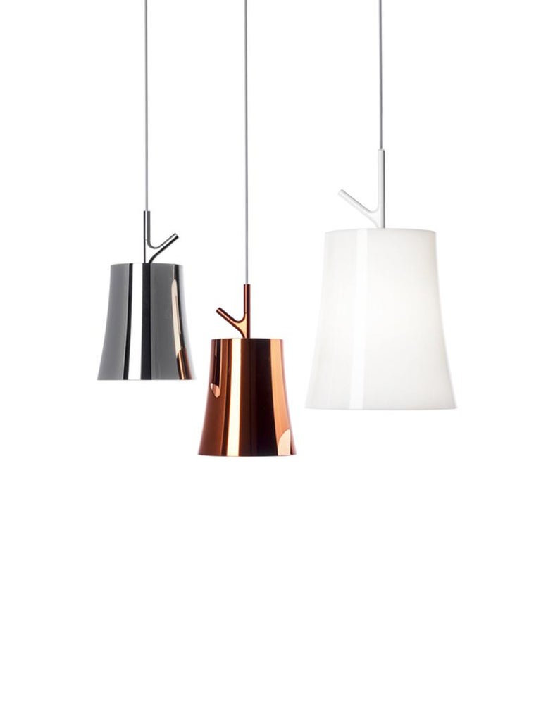 Italian Foscarini Birdie Large Suspension Lamp in White by Ludovica and Roberto Palomba For Sale