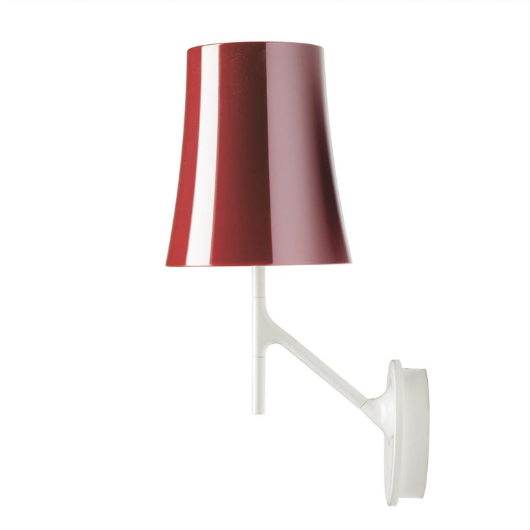 Foscarini Birdie Wall Lamp in Amaranth by Ludovica and Roberto Palomba For Sale