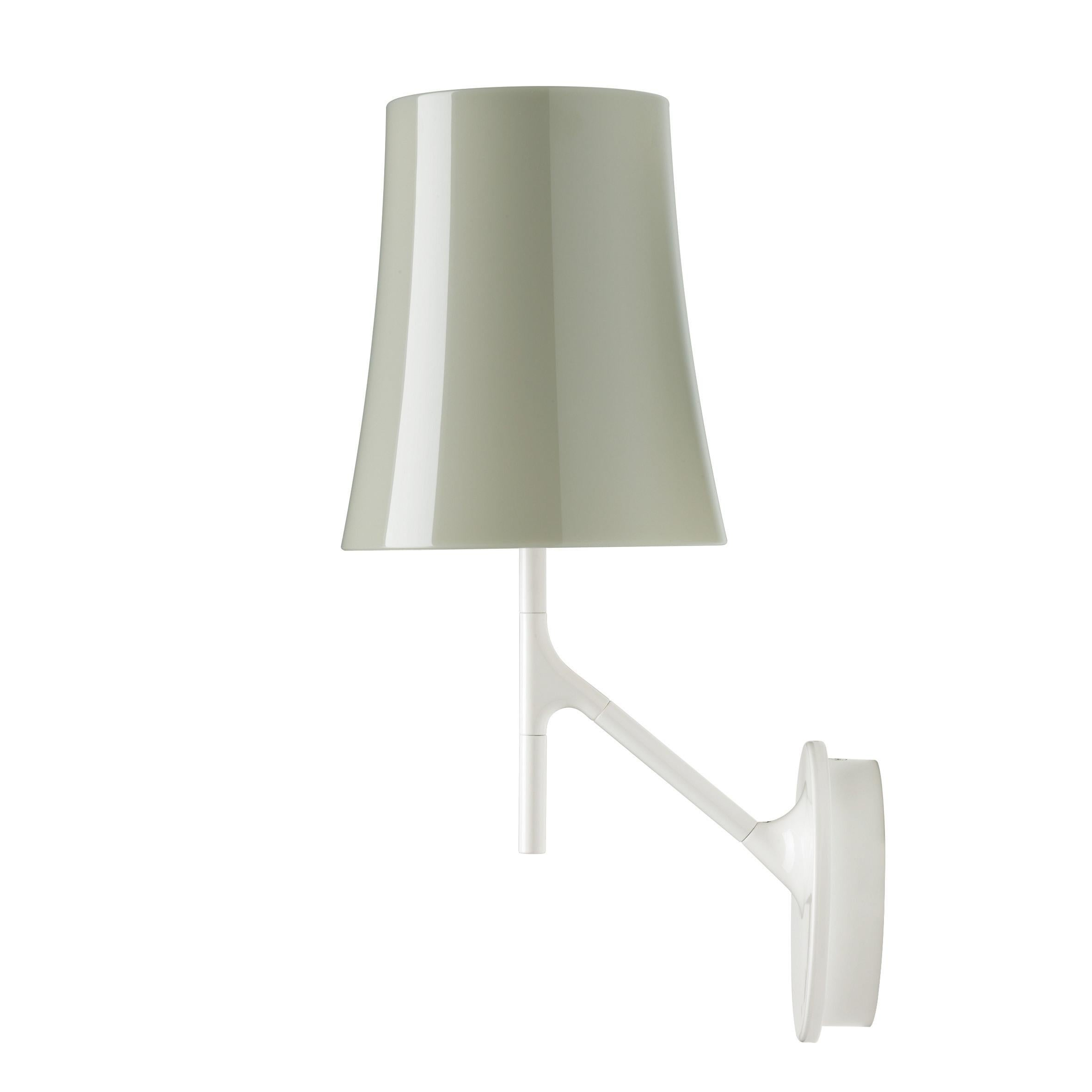 Foscarini Birdie Wall Lamp in Grey by Ludovica and Roberto Palomba