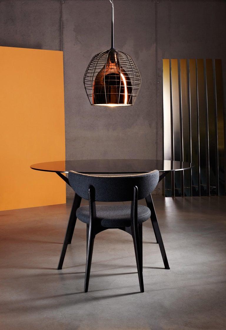 Italian Foscarini Cage Mic Suspension Lamp in Black by Diesel For Sale