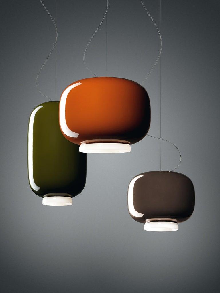 Modern Foscarini Chouchin 3 LED Suspension Lamp in Grey by Lonna Vautrin For Sale
