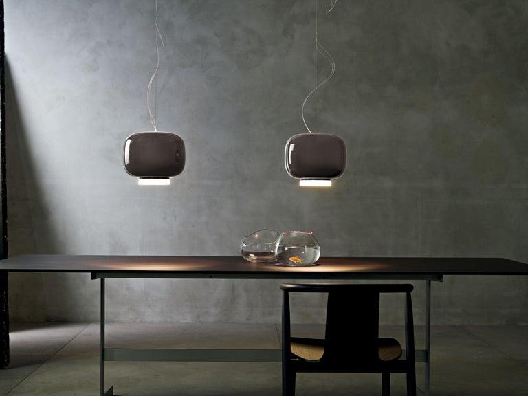 Italian Foscarini Chouchin 3 LED Suspension Lamp in Grey by Lonna Vautrin For Sale