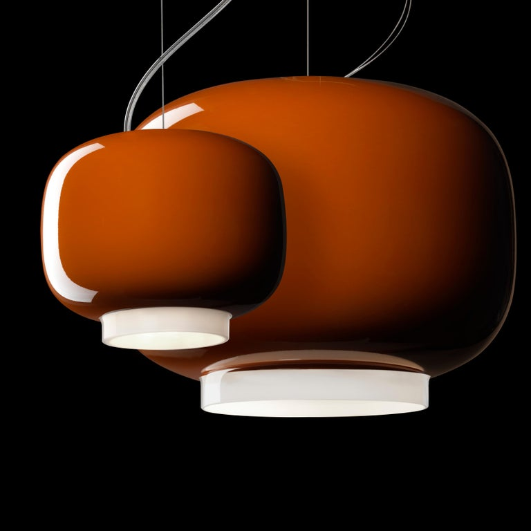 Foscarini Chouchin 3 LED Suspension Lamp in Grey by Lonna Vautrin In New Condition For Sale In New York, NY