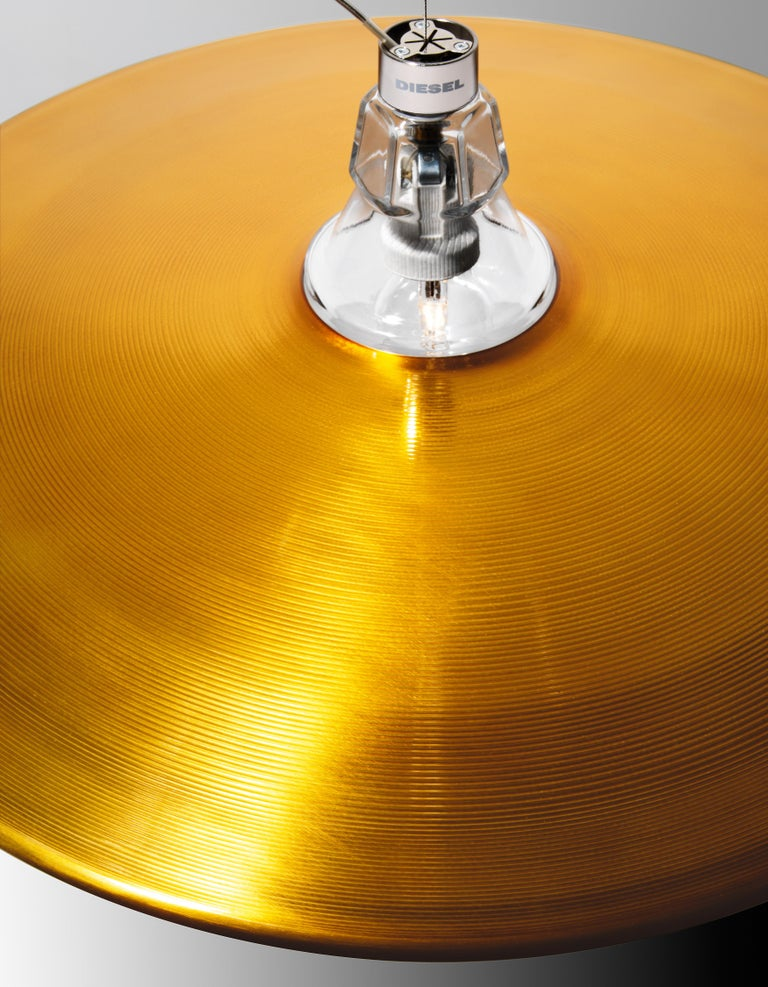 Modern Foscarini Crash Suspension Lamp in Bronze by Diesel For Sale
