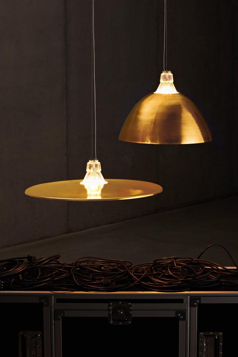Italian Foscarini Crash Suspension Lamp in Bronze by Diesel For Sale