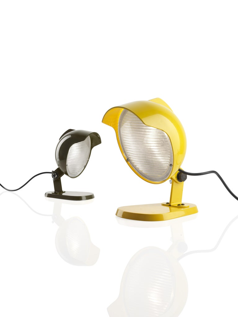 Modern Foscarini Duii Mini Table Lamp in Yellow by Diesel For Sale